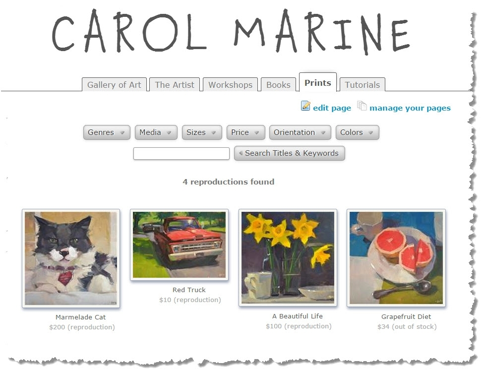 Create Custom Print Pages For Your Dpw Gallery Website