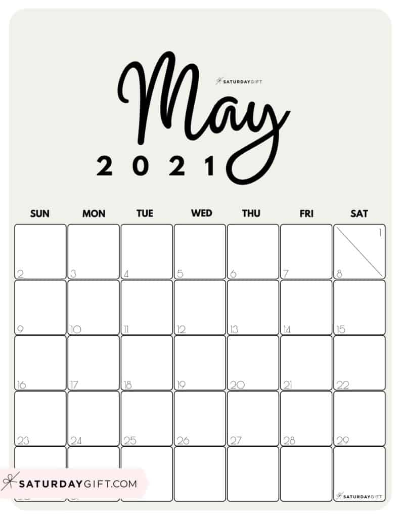 Cute 2021 Printable Blank Calendars - Free Blank Calendar