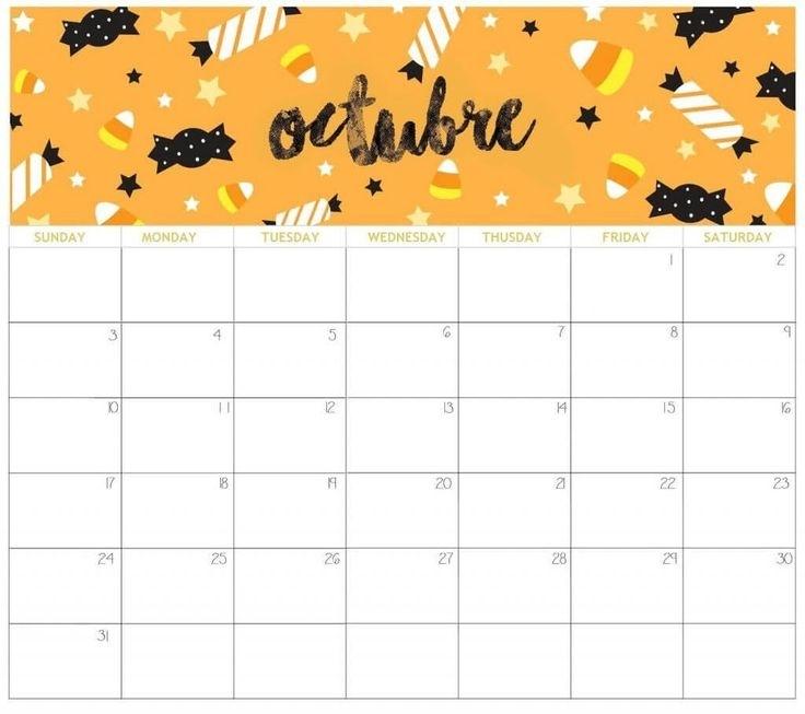 Cute October 2021 Desk Calendar In 2020   Cute Calendar
