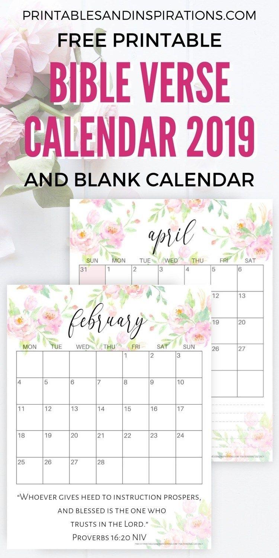 Daily Bible Verse Printable Calendar 2021 | 2021 Printable