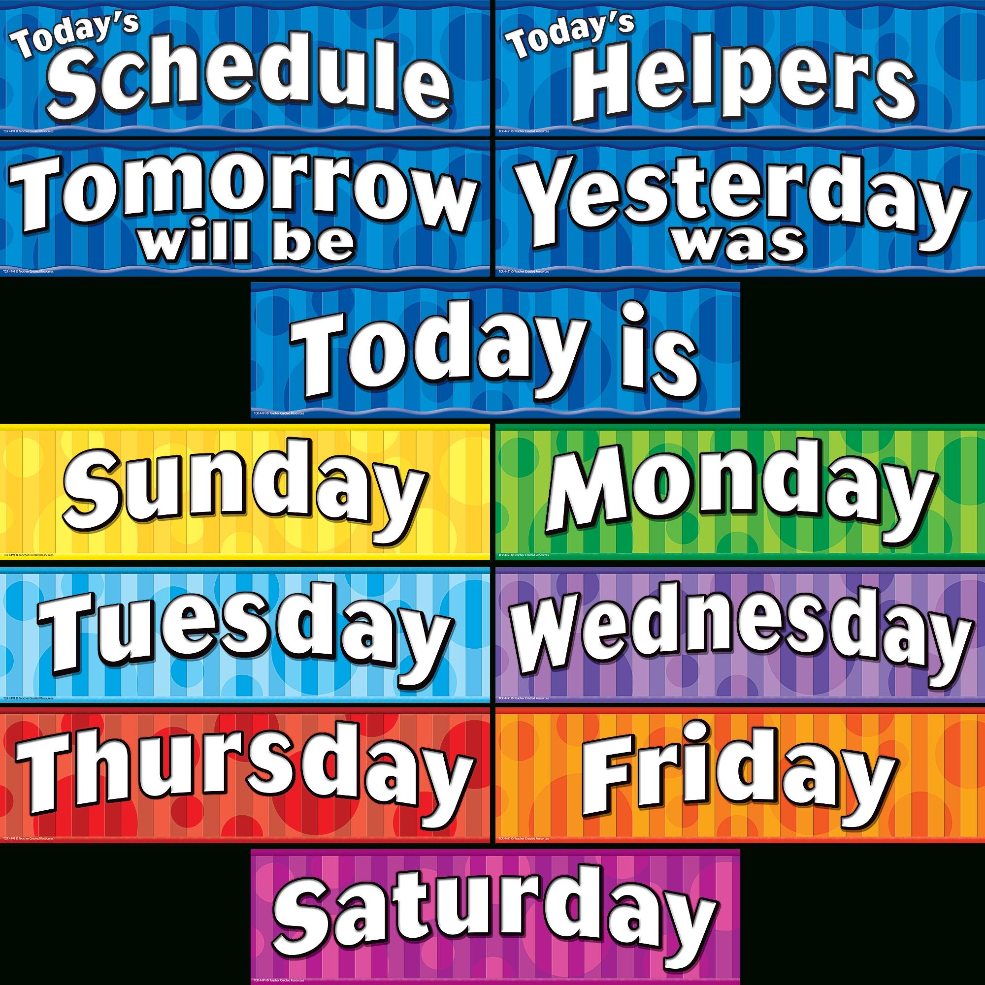 Days Of The Week Headliners - Tcr4491   Teacher Created