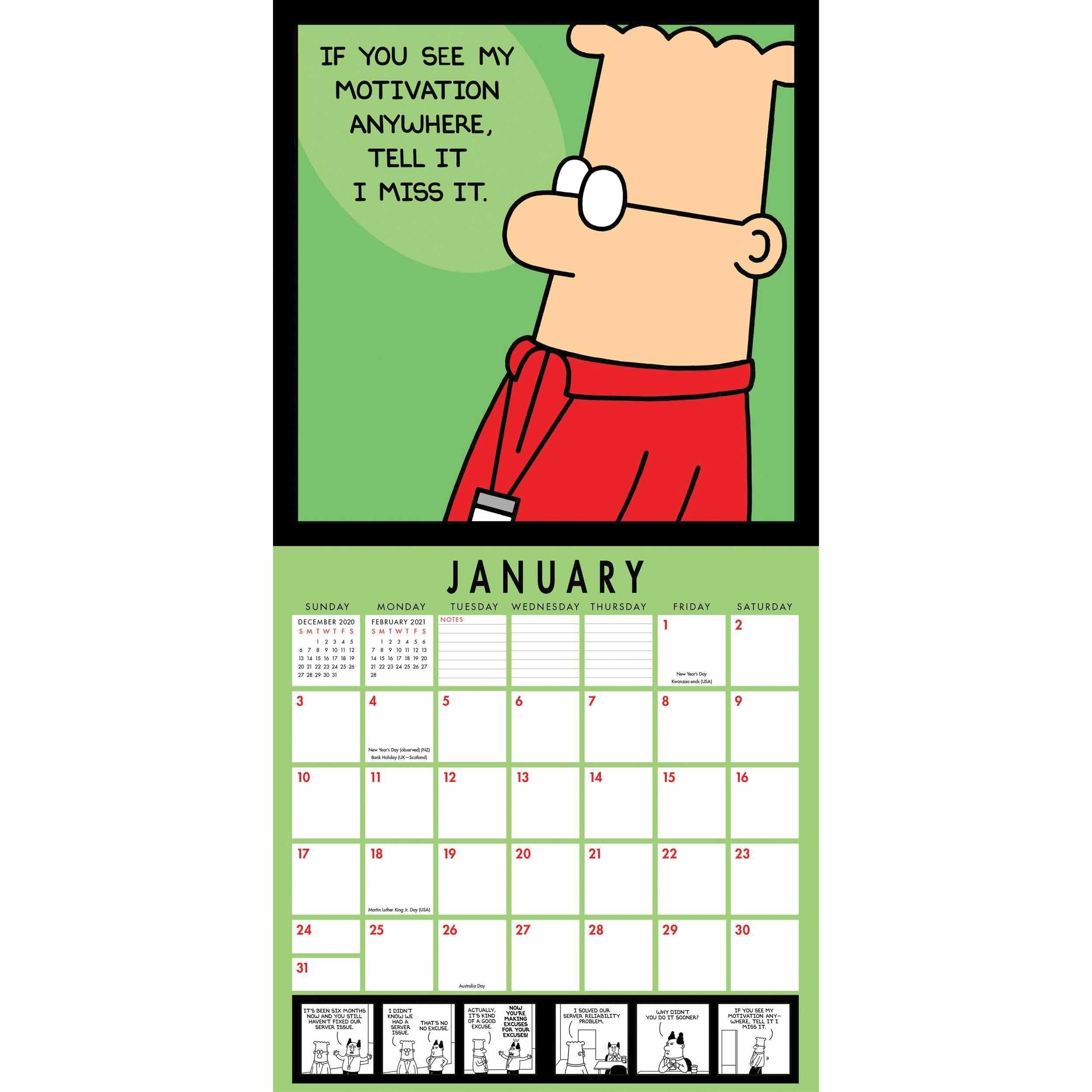 Dilbert Mini Calendar 2021 At Calendar Club