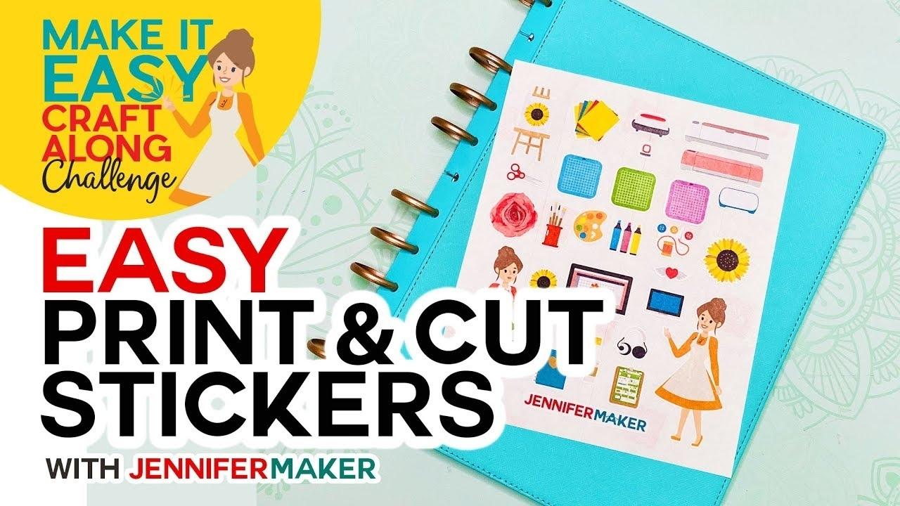 Easy Print & Cut Stickers On A Cricut! - Youtube