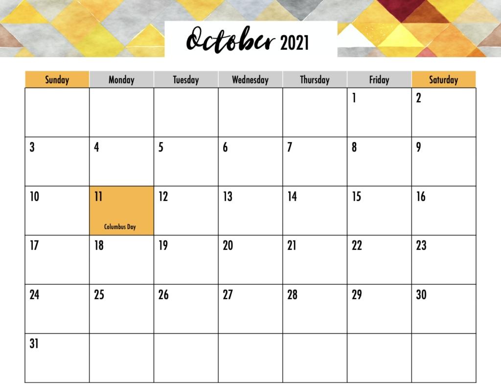 Editable 2021 Calendar Printable - Gogo Mama