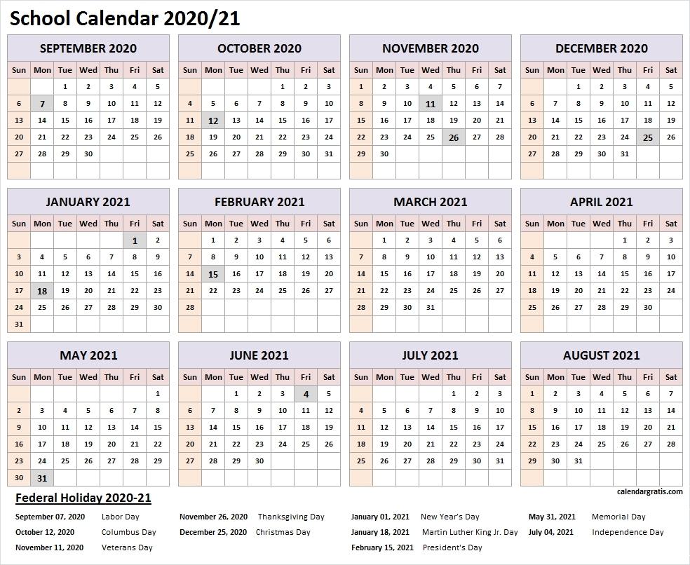 Effective Printable Quarter Calendar 2021 Lesson Plans