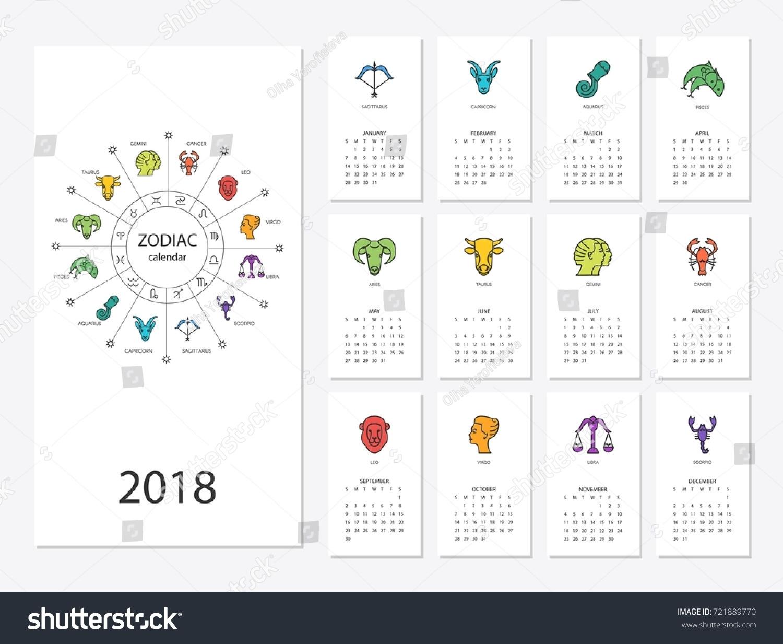 English Calendar Zodiac Signs   Ten Free Printable
