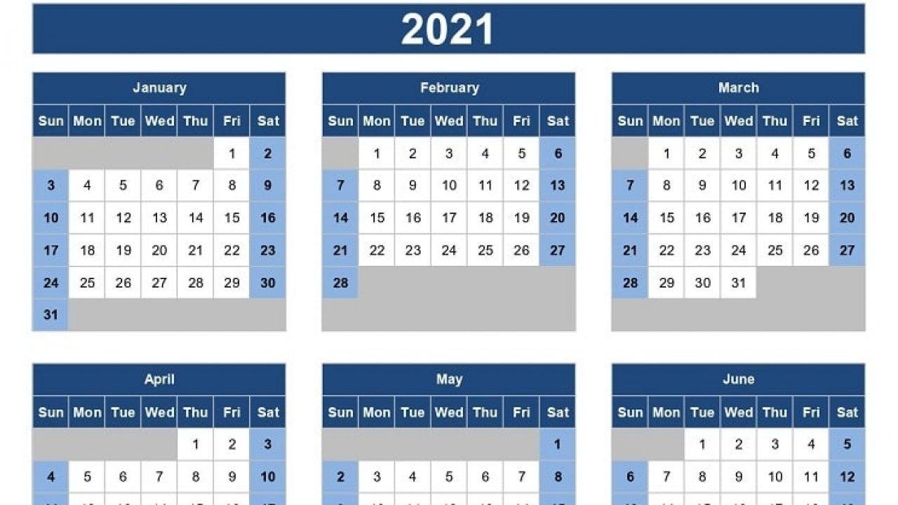 Excel Calendar 2021 - Example Calendar Printable