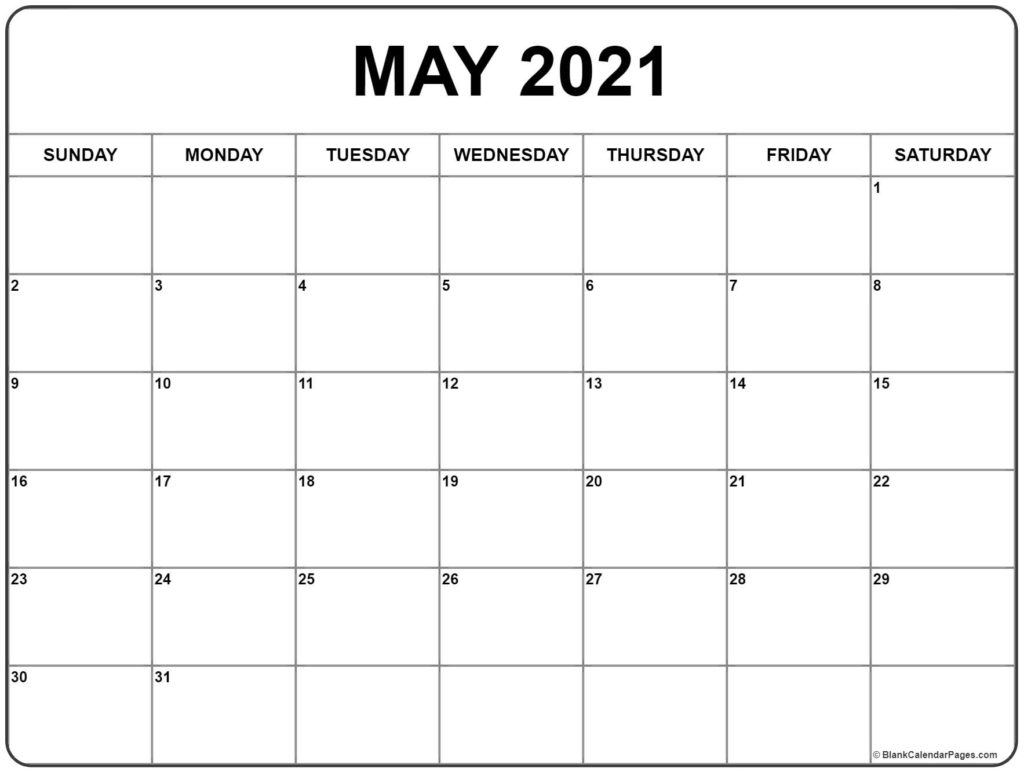 Excel Calendar May 2021 | 2021 Excel Calendar