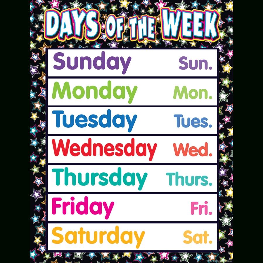 Fancy Stars Days Of The Week Chart - Tcr7755   Teacher