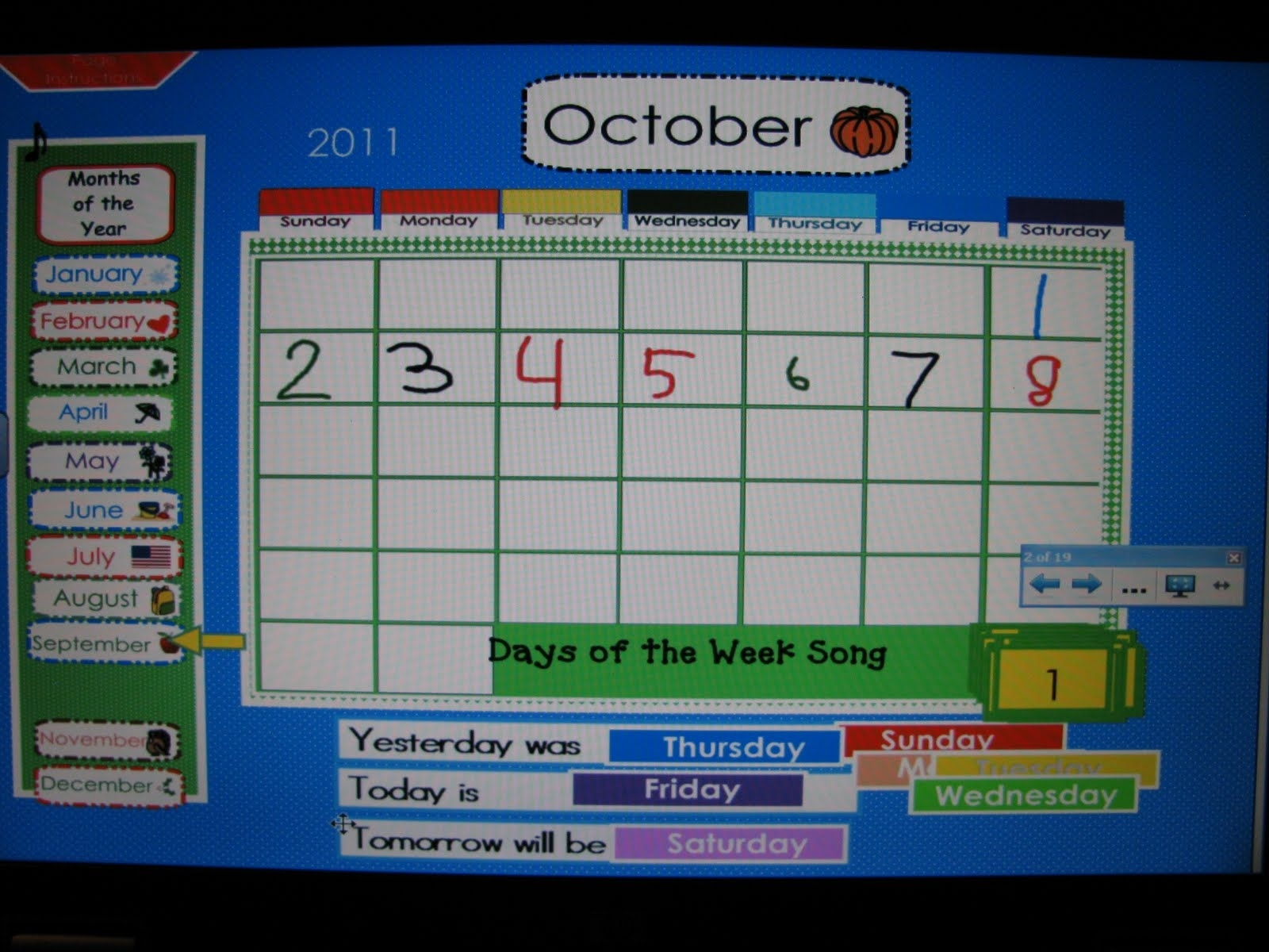 First Grade Gallery- Lessons For Little Learners: Calendar