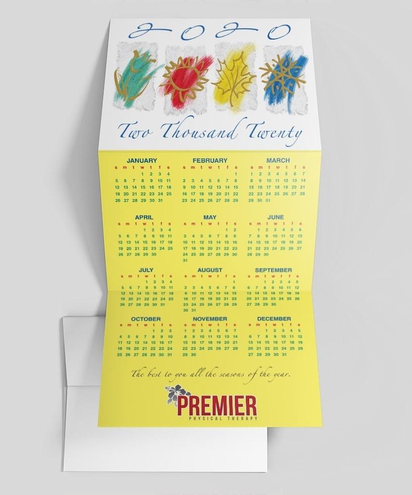 Four Seasons Calendar Card Calendar Cards123Print