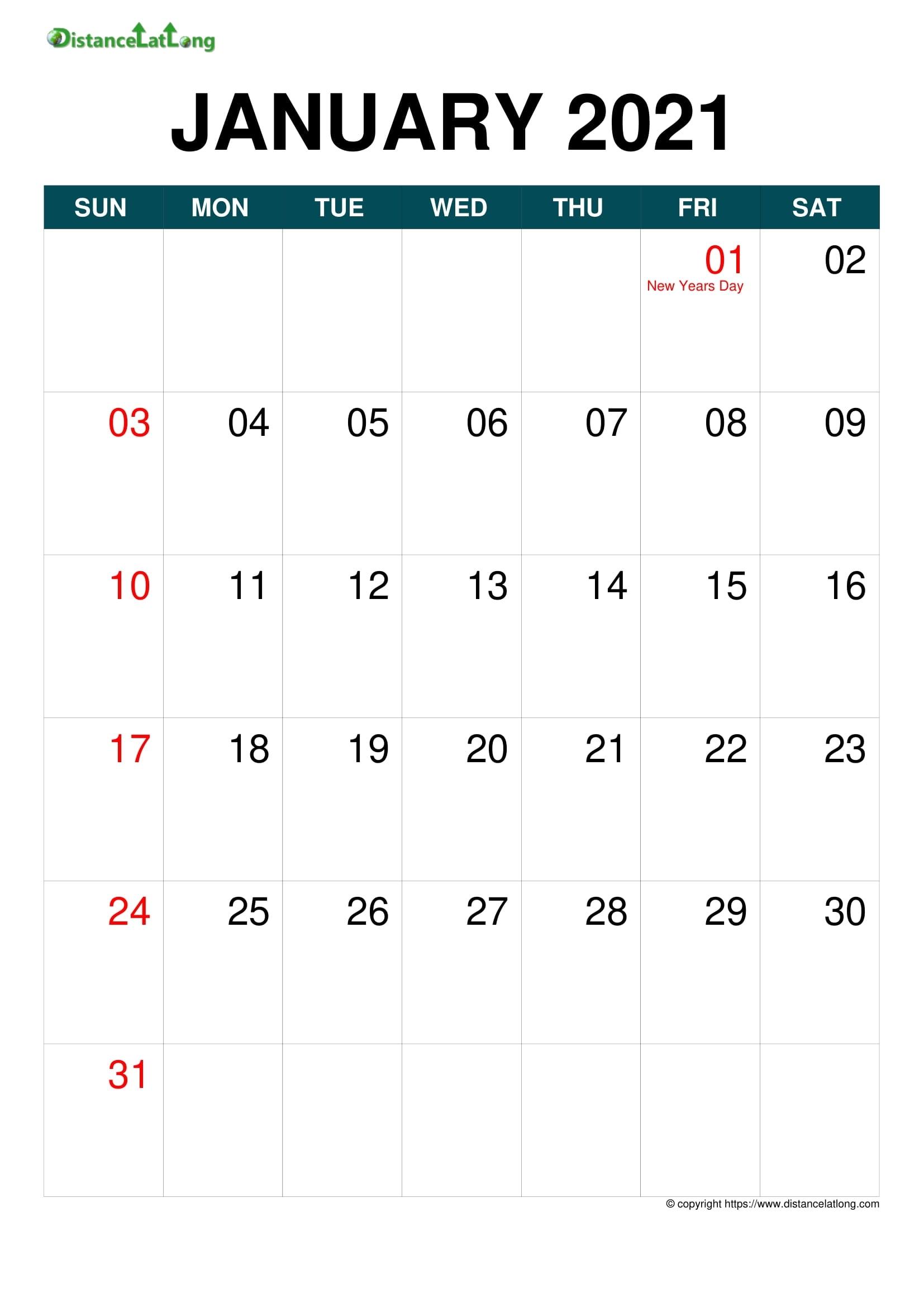 Free Downloadable 2021 Word Calendar / Just Download Word