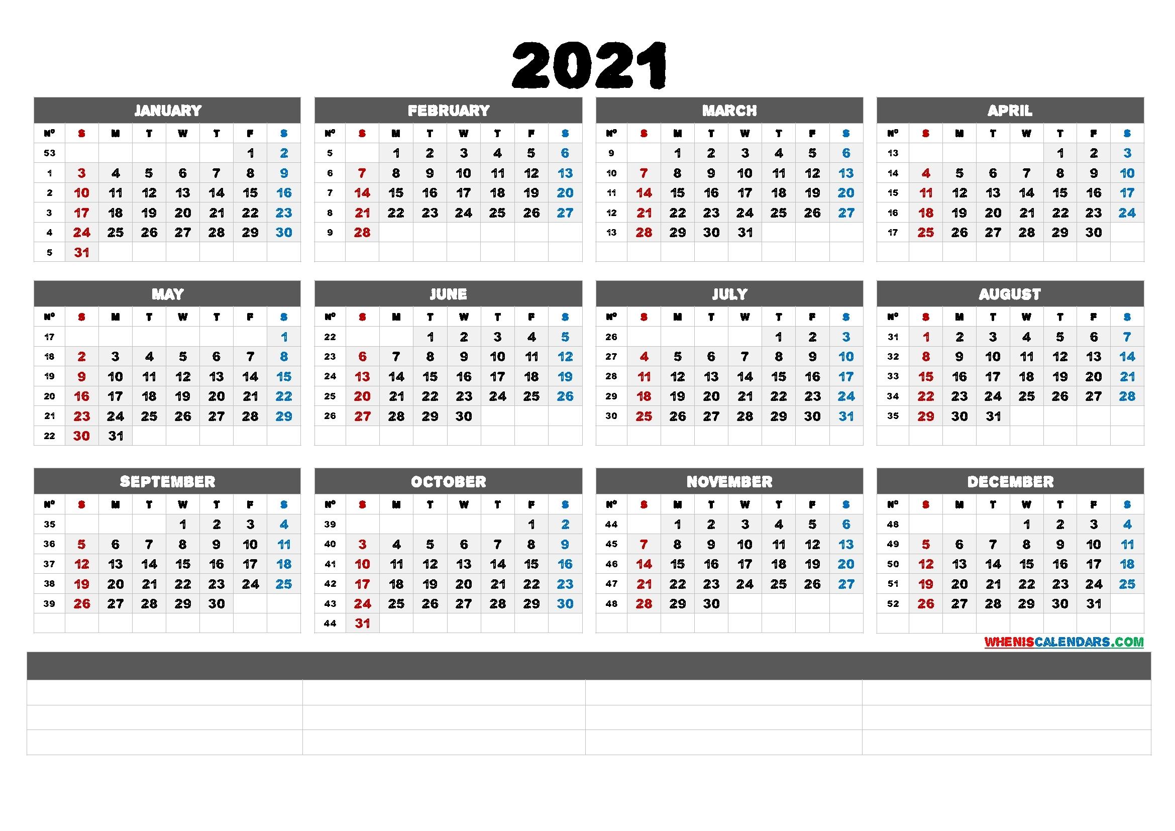 Free Editable 2021 Calendar With Holidays - 2021 Calendar