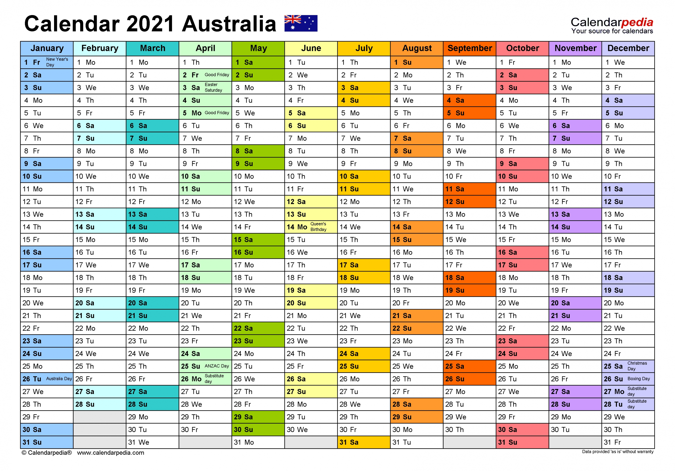 Free Editable 2021 Calendars In Word / Printable Calendar