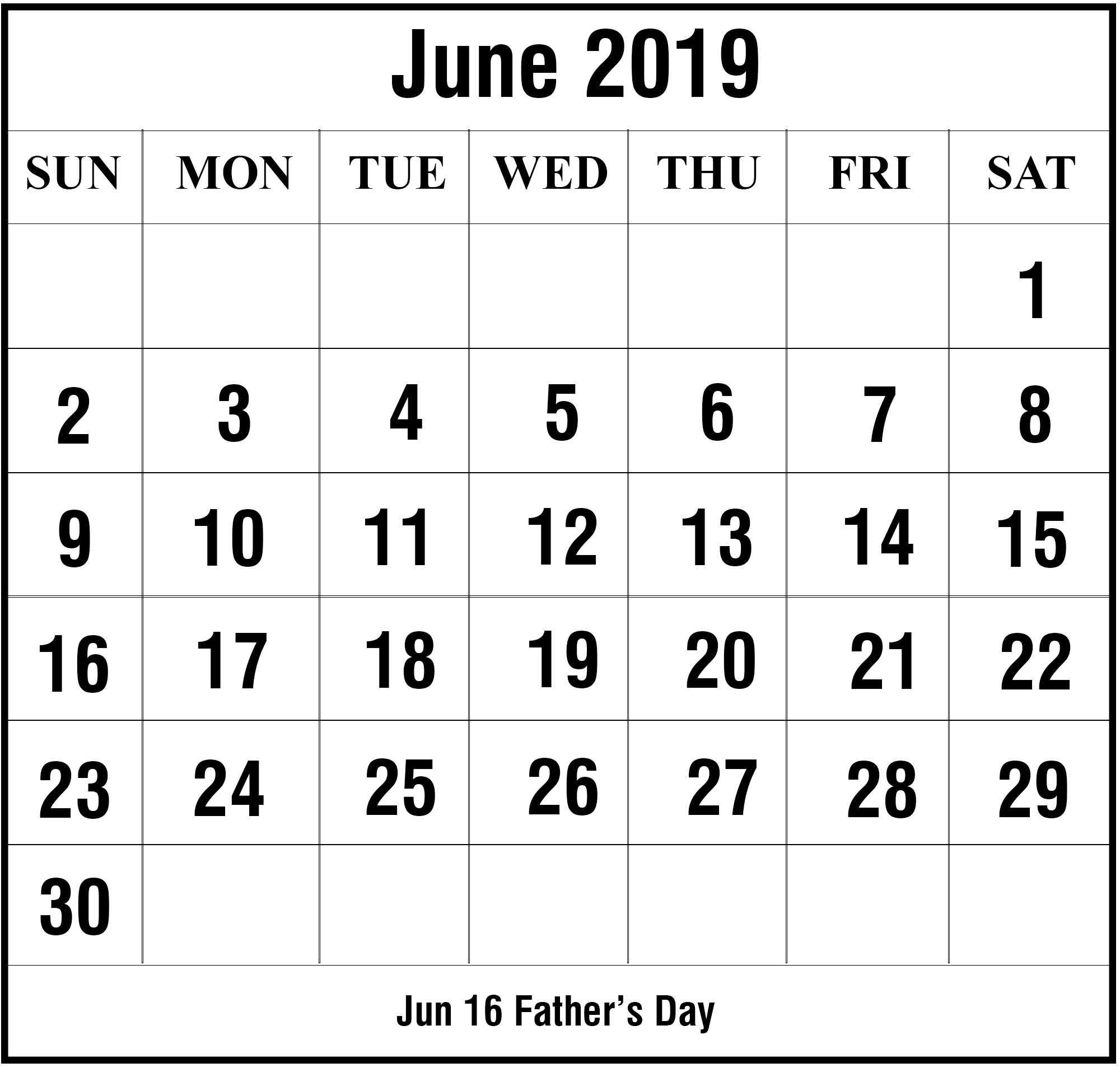 Free Large Number Printable Calendars | Calendar