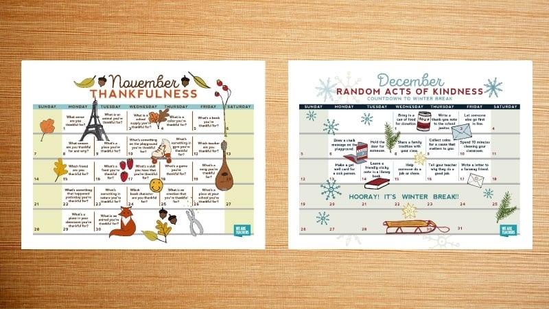 Free Printable 2021 Teacher Calendar - Weareteachers