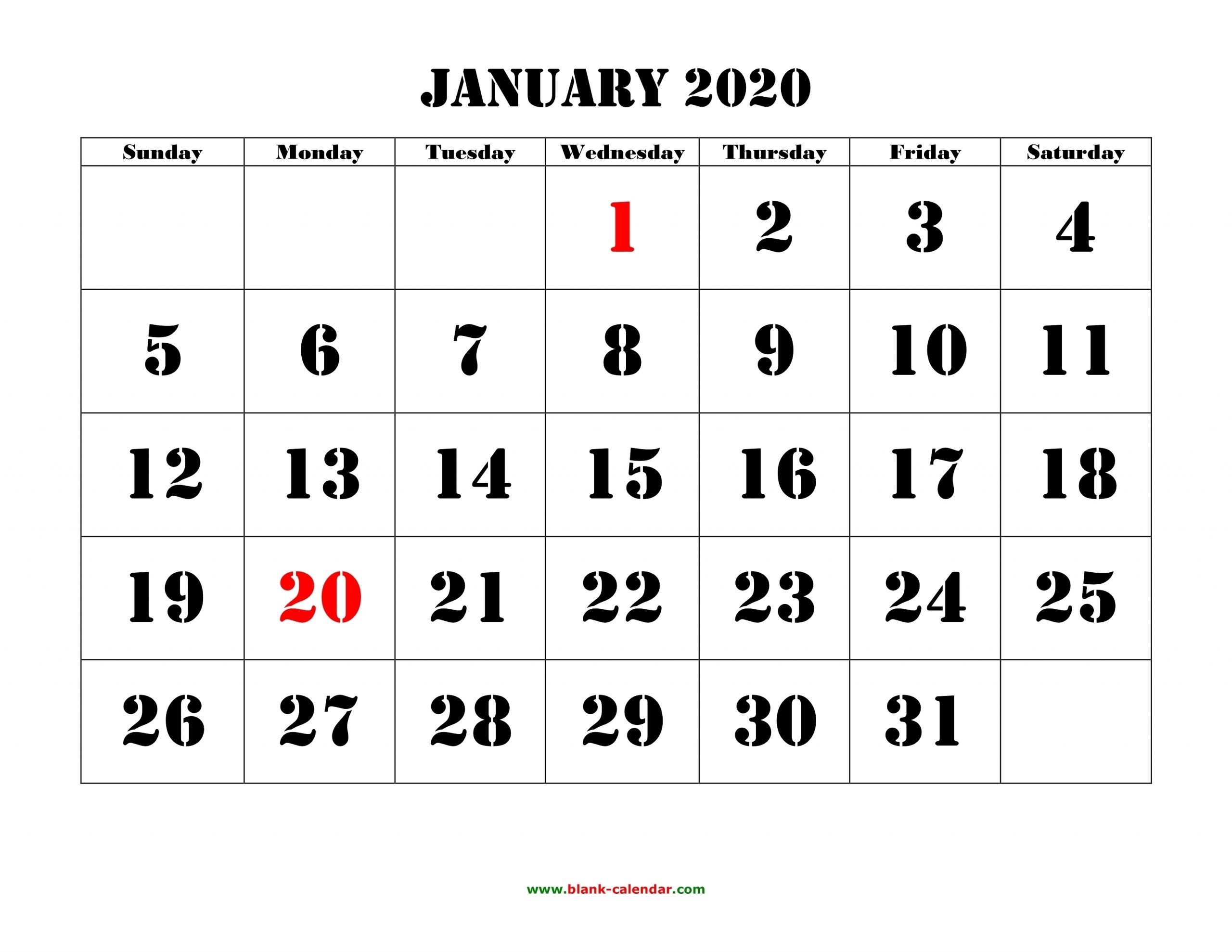 Free Printable Calendar Bold   Month Calendar Printable