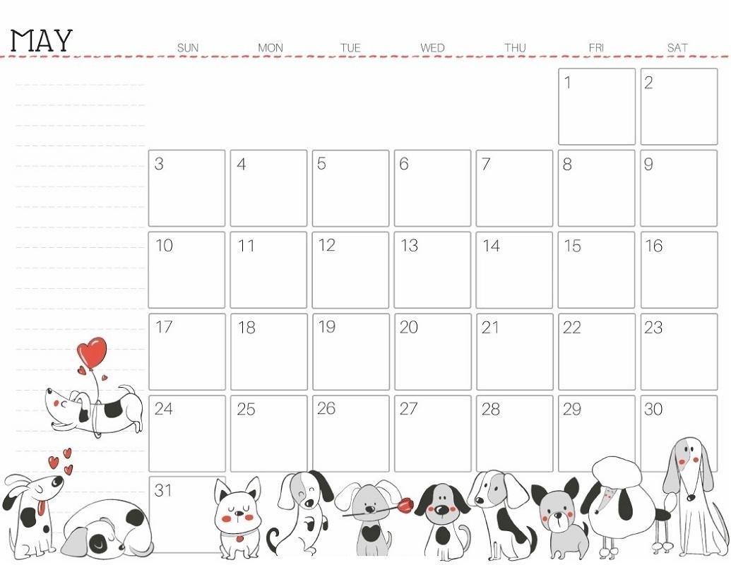 Free Printable Calendar Cute | Ten Free Printable Calendar