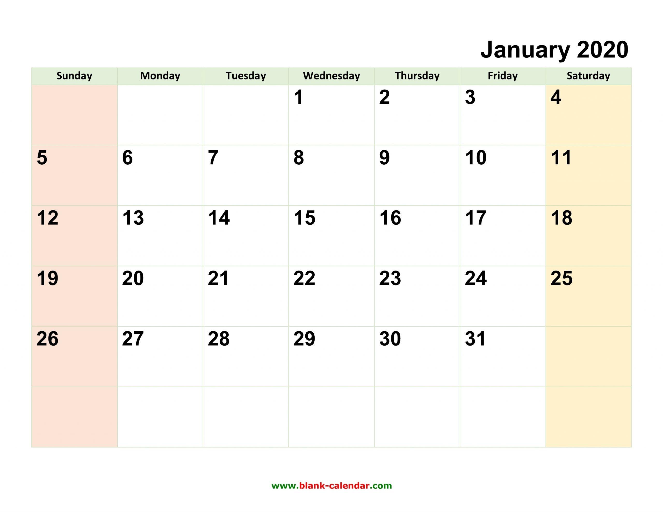 Free Printable Calendar Editable 2020 | Calendar