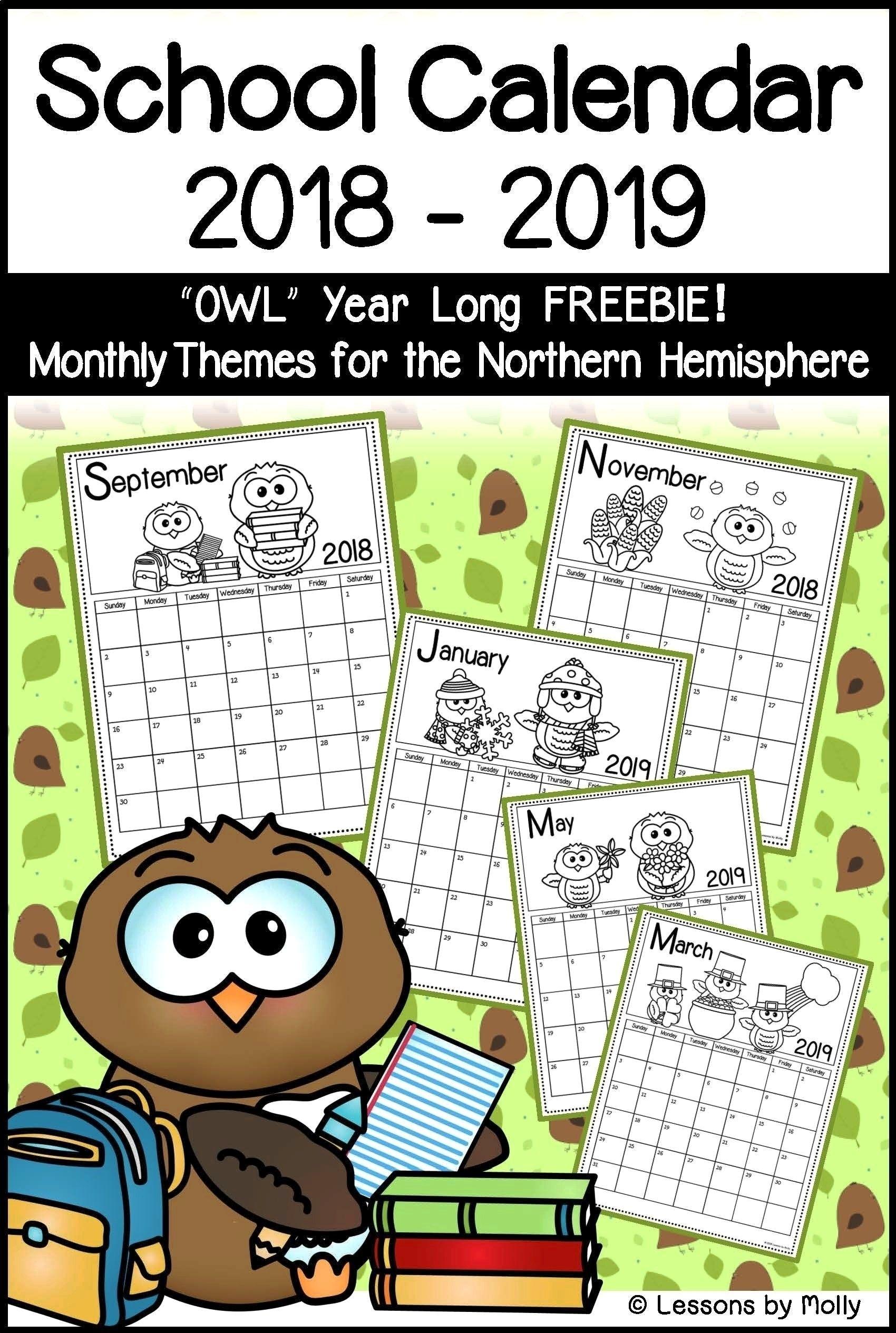 Printable School Visural Calendars 1St Grade