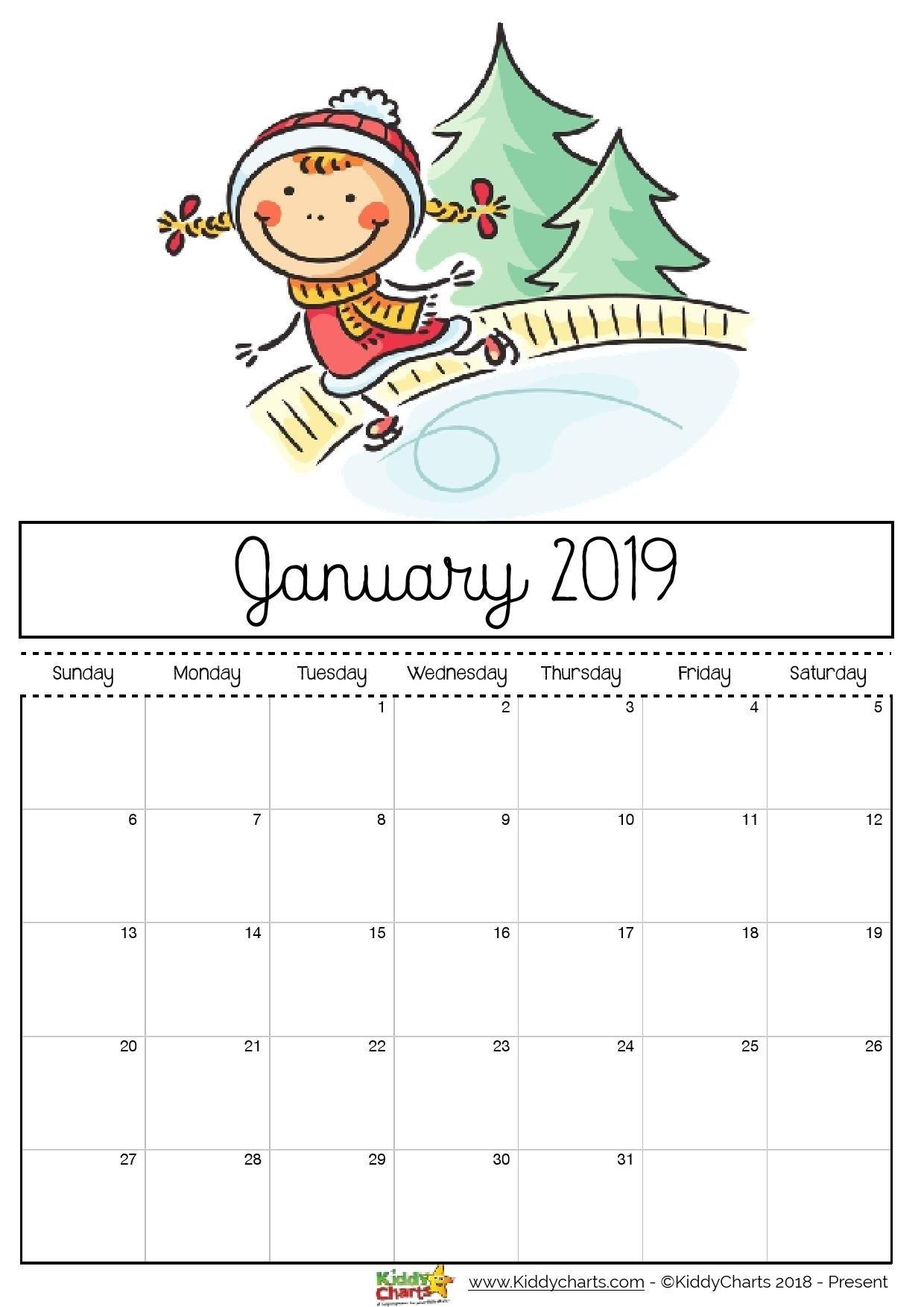 Free Printable Calendar Girly | Calendar Printables, Kids
