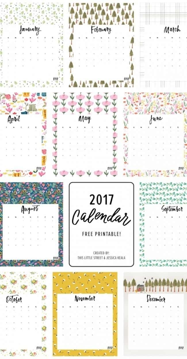 Free Printable Calendar Girly | Ten Free Printable