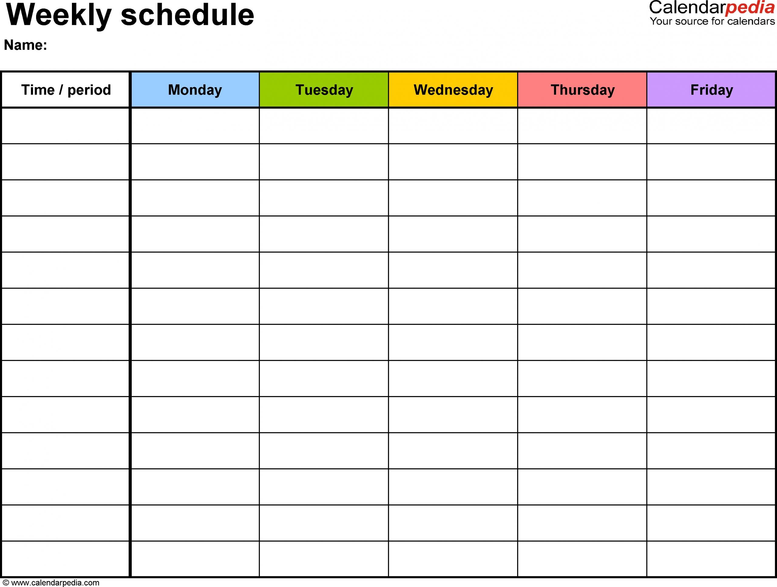 Free Printable Calendar Monday Through Friday | Calendar