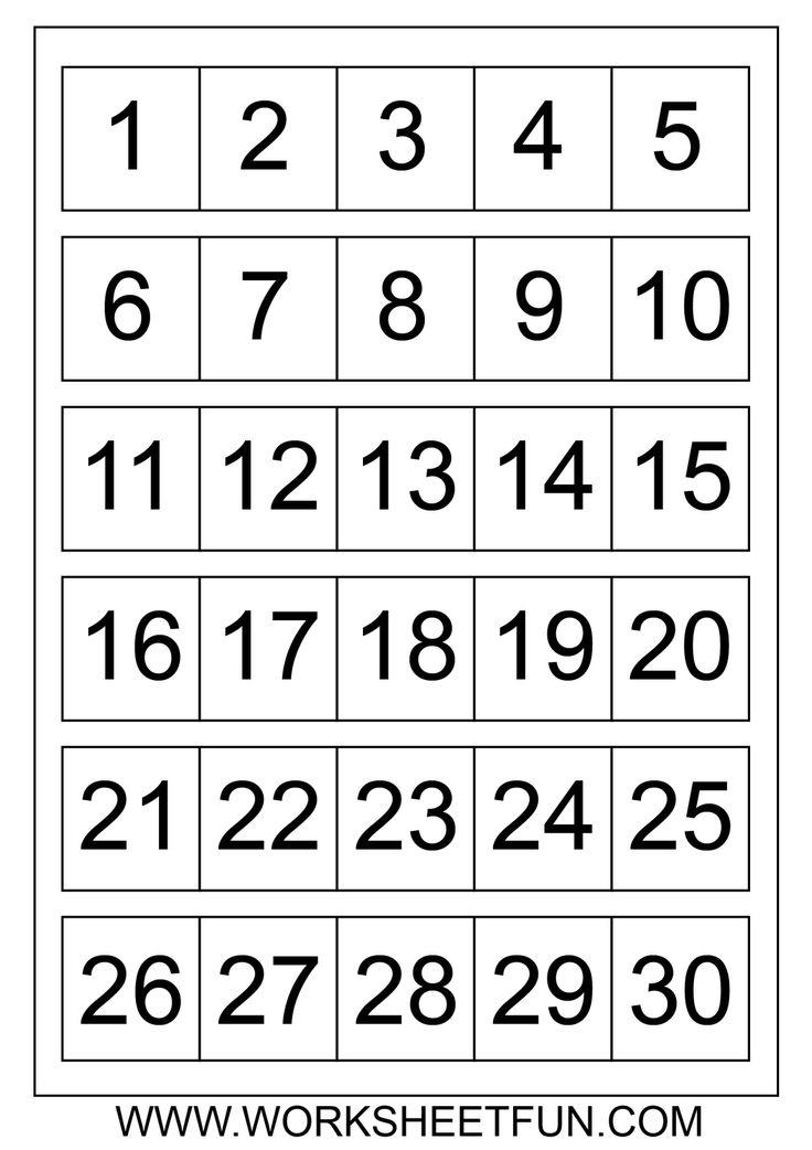 Free Printable Calendar Numbers 1-31 May | Free Printable