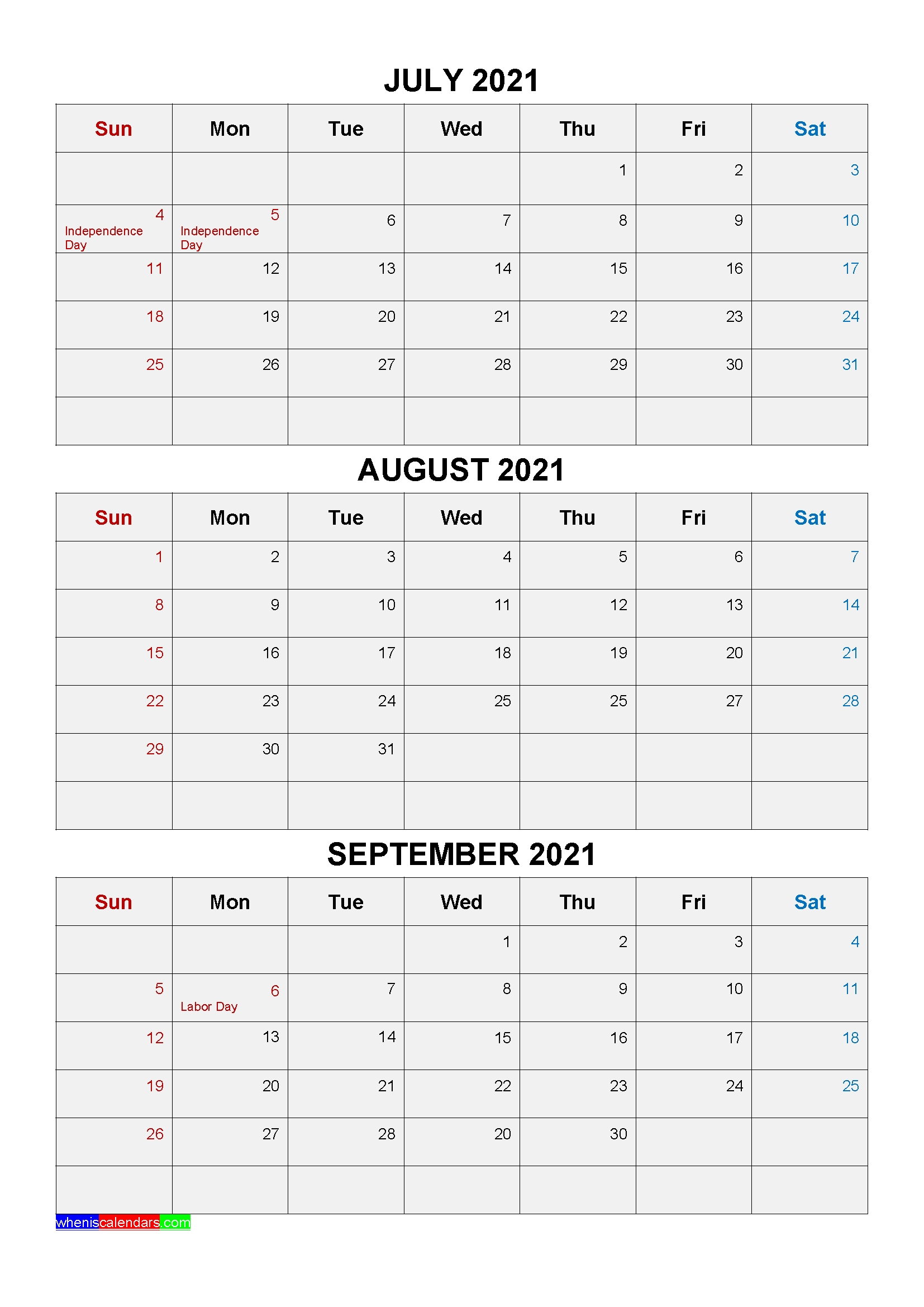 Free Printable Calendar Quarterly 2021 Without Downloading