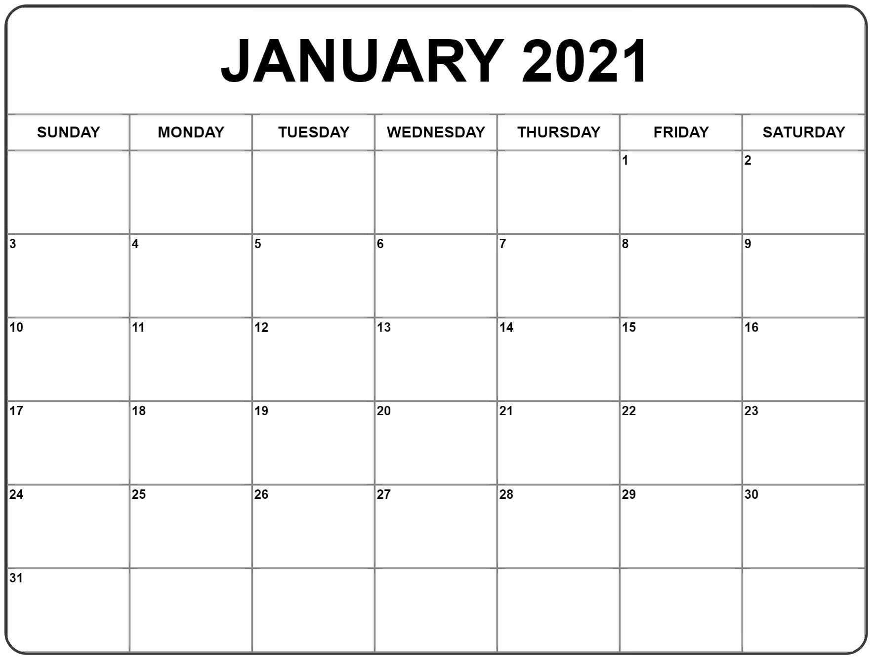 Free Printable Editable 2021 Calendar Design : Writable