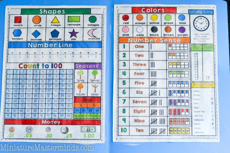 Free Printable Kindergarten And First Grade File Folder