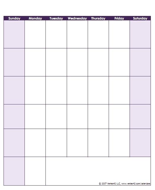 Free Printable Monday Sunday Schedule Image | Calendar