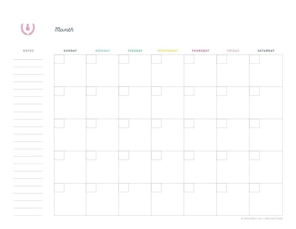 Free Printable Undated Calendar | Ten Free Printable