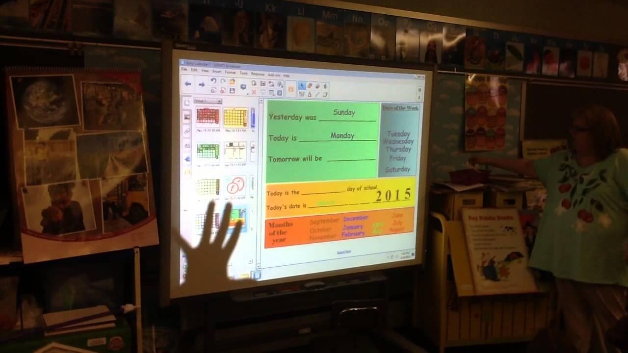 Free Smartboard Calendar Kindergarten | Calendar