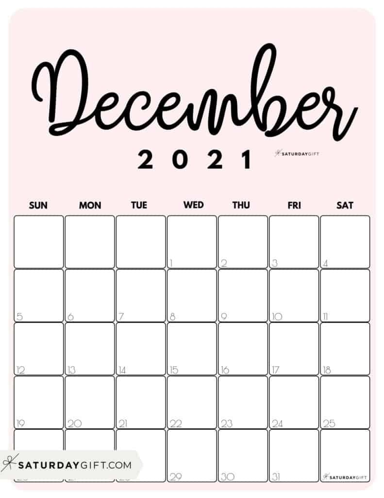 Get December 2021 Calendar Girly - Best Calendar Example