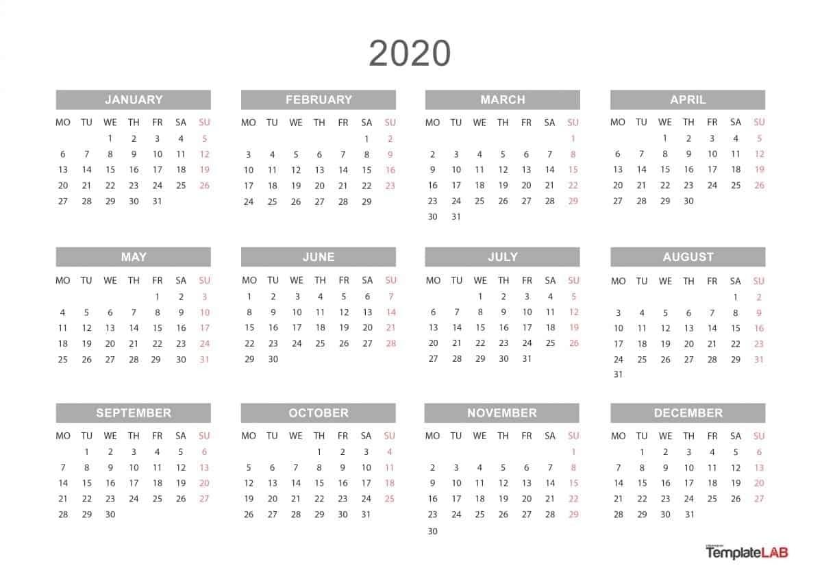 Google Calendar 2020 Printable - Calendar Inspiration Design
