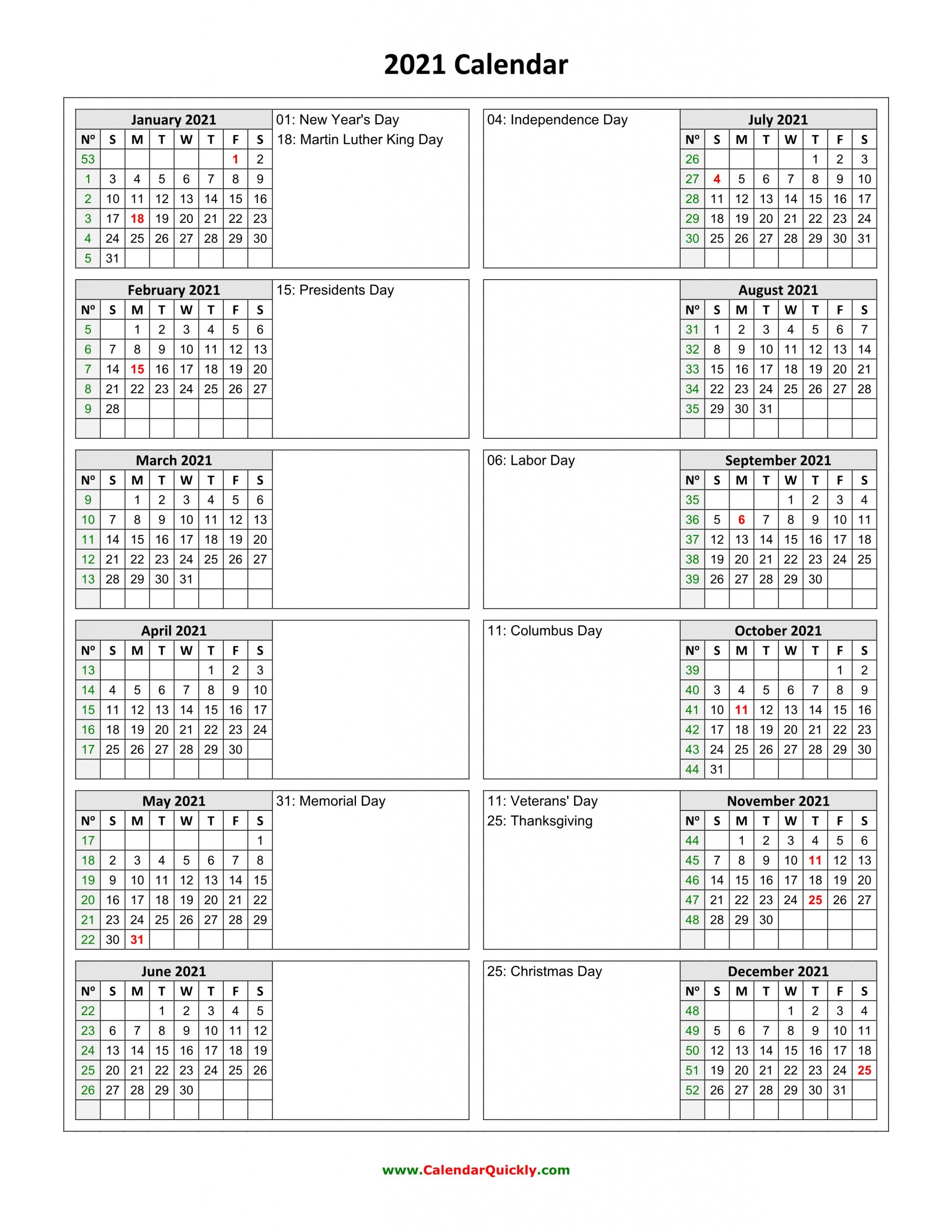 Holidays Calendar 2021 Vertical   Calendar Quickly