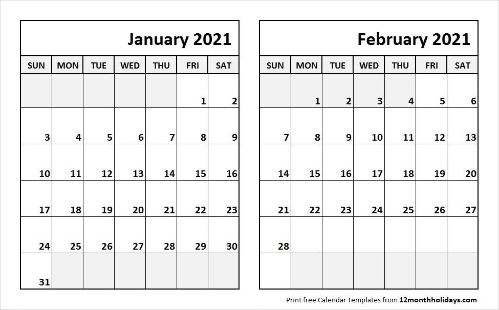 January February 2021 Calendar | Calvert Giving