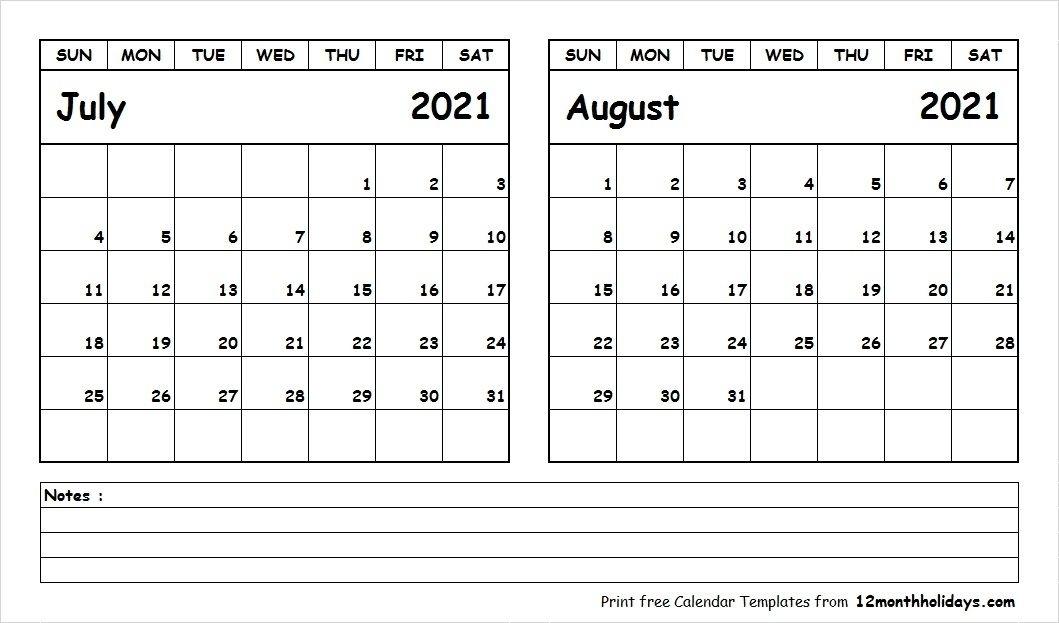 July 2021 Calendar Word | Qualads