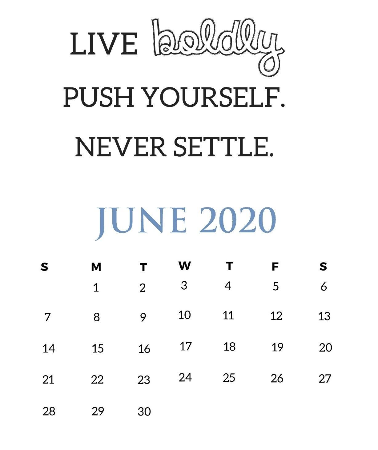 June 2020 Motivational Wall Calendar In 2020 | Wall