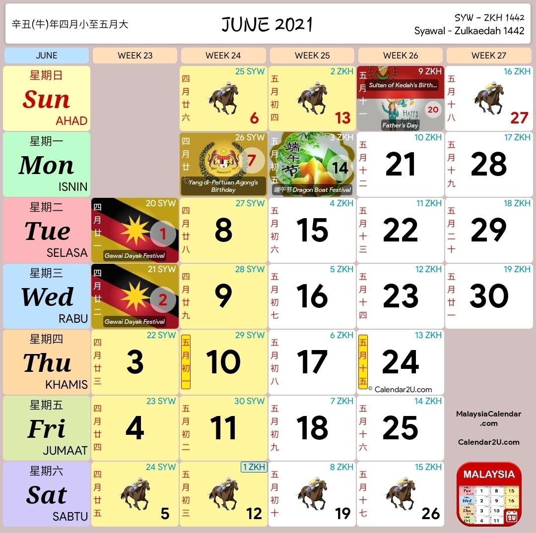 Kalendar 2021 Dan Cuti Sekolah 2021 - Rancang Percutian