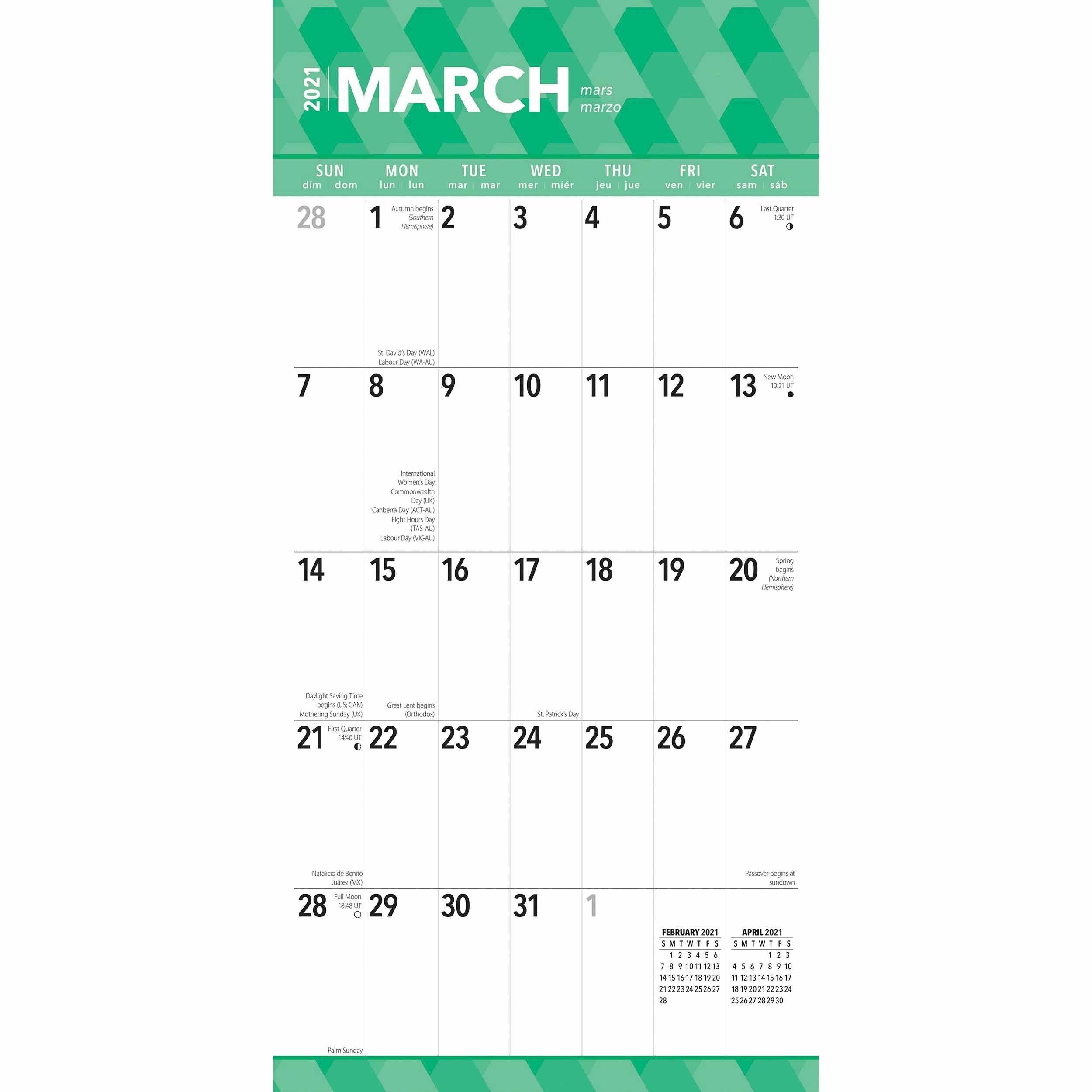 Large Print Calendar 2021 At Calendar Club