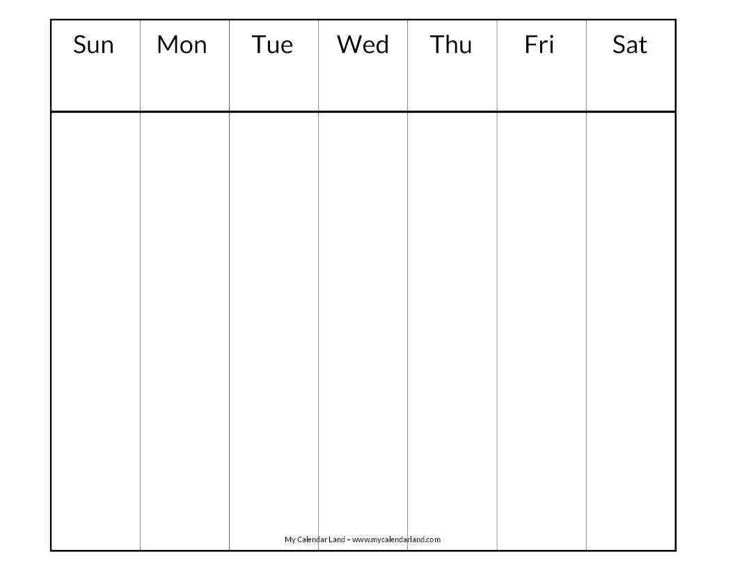 Lovely Days Of The Week Calendar Printables   Free
