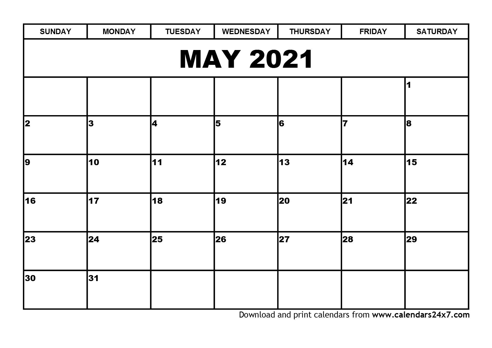 May 2021 Calendar & June 2021 Calendar