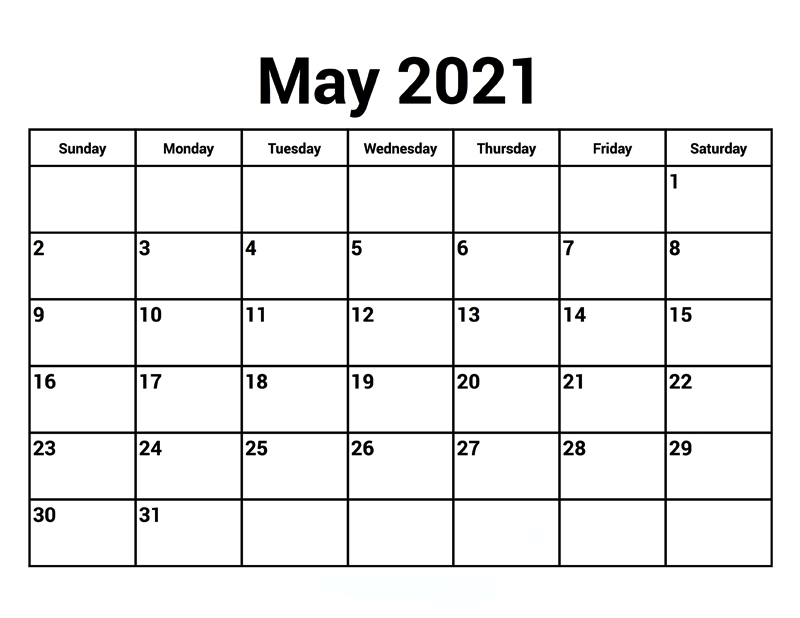 May 2021 Calendar With Holidays - Thecalendarpedia
