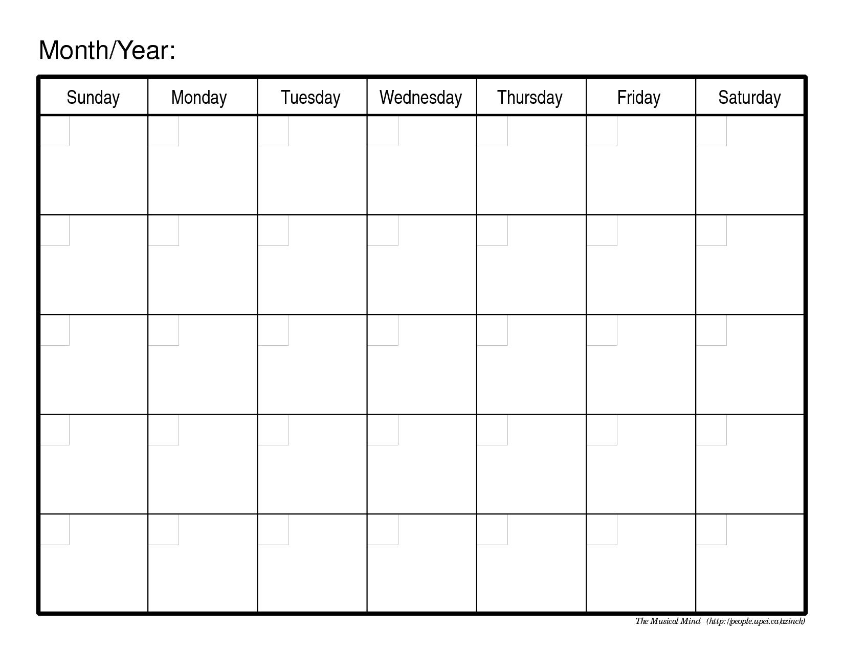 Meal Calendar | Free Monthly Calendar, Blank Calendar