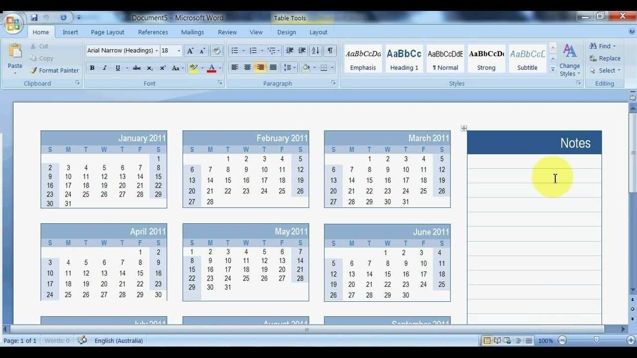 Microsoft Word Can You Insert Calendar Template   Example