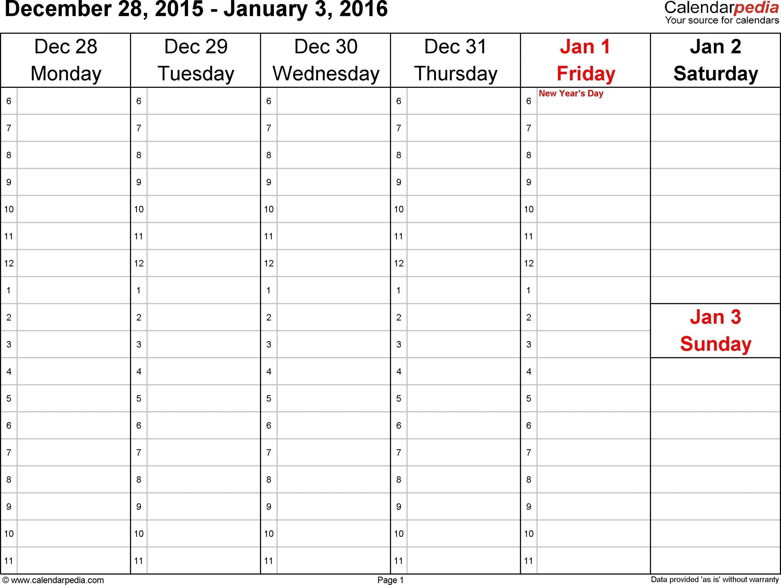 Monday Through Friday Monthly Calendar In 2020 | Weekly