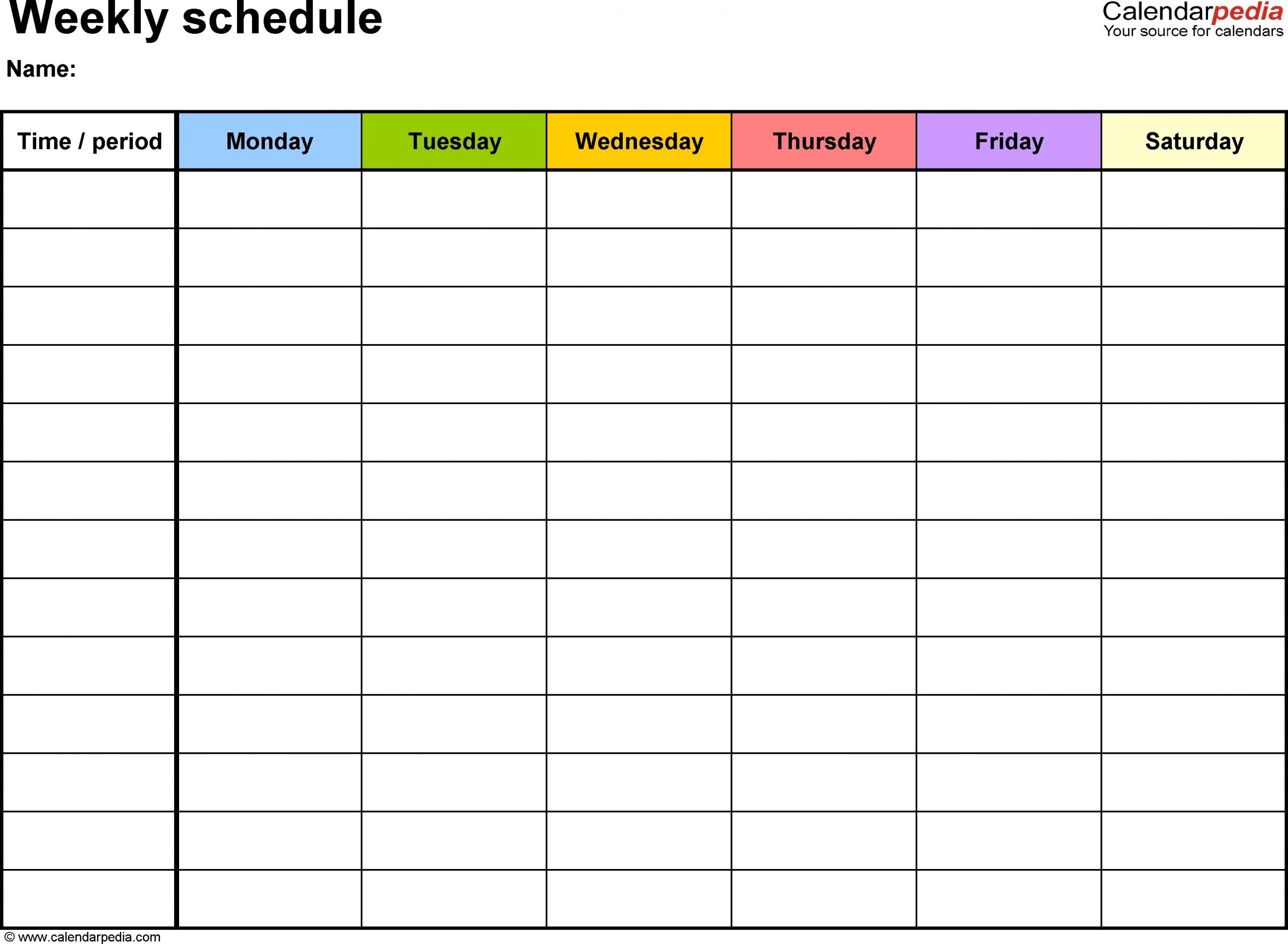 Monday To Friday Calendar Template | Calendar Template