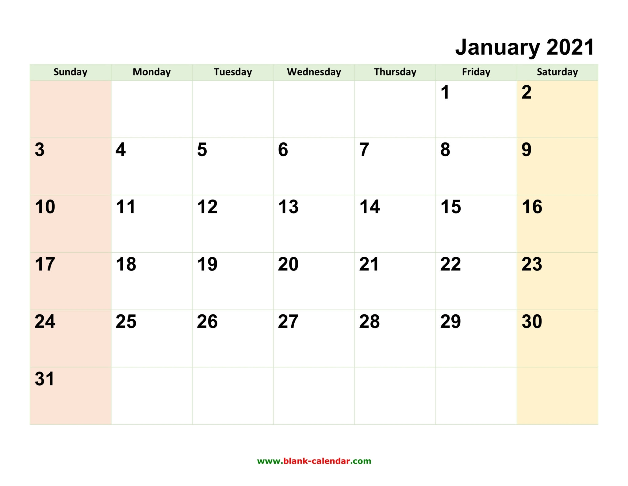 Monthly Calendar 2021   Free Download, Editable And